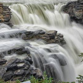 Athabasca Falls by Hans DeBruyn - Landscapes Waterscapes ( canada, alberta, waterfall, jasper, athabasca )