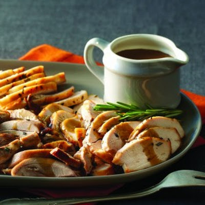 Rosemary-Roasted Turkey with Porcini Pan Sauce