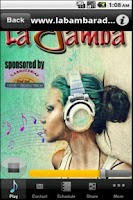 Screenshot of La Bamba Radio