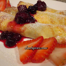 Mascarpone + Berry Crepes