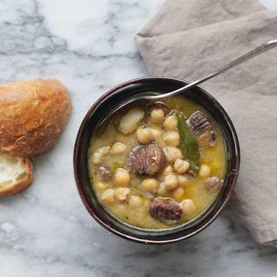 Chestnut and Chickpea Soup
