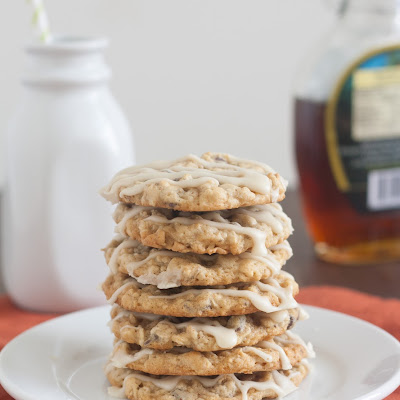 Maple-Glazed Oatmeal Chocolate Chip Cookies