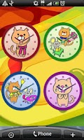 Screenshot of Cat Analog Clocks Full ver.