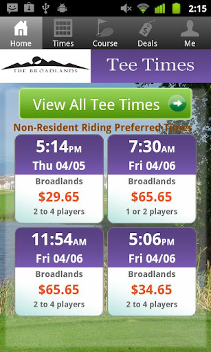 The Broadlands Golf Tee Times
