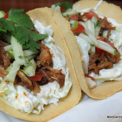 Pulled Pork Soft Tacos With Sesame Slaw