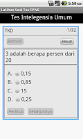 Screenshot of Latihan Soal CPNS