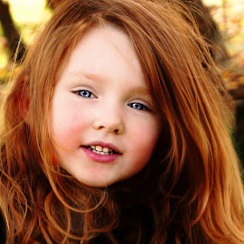 Hair Aflow by Cheryl Korotky - Babies & Children Child Portraits