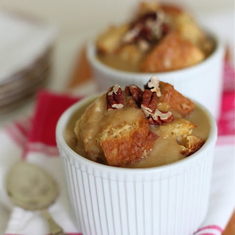 Amaretto Bread Pudding with a Maple Rum Butter Sauce