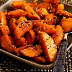 Soy-Glazed Sweet Potatoes with Sesame Seeds