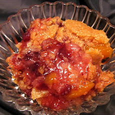 Thanksgiving Cranberry Peach Cobbler