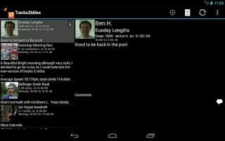 Screenshot of Tracks2Miles