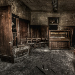 Shows Over by Randell Whitworth - Buildings & Architecture Decaying & Abandoned ( history, old, lost, piano, forgotten )