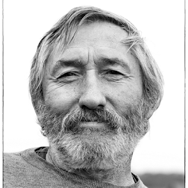 satisfied by Nikola Hrzenjak - People Portraits of Men ( cigarette, field, black and white, worker, man )
