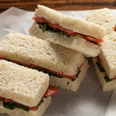 Pickled Radish and Sweet Butter Tea Sandwiches