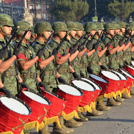 Mexican Military Performance in front of National Palace by Tyrell Heaton - News & Events Entertainment