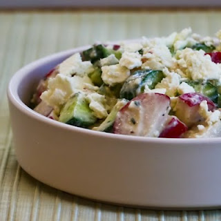 Cucumber and Radish Salad with Feta, Red Wine Vinegar, and Buttermilk Dressing