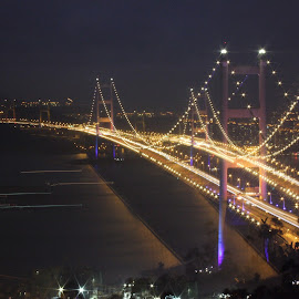 Tsing Ma bridge by Christophe Ginguené - Buildings & Architecture Bridges & Suspended Structures