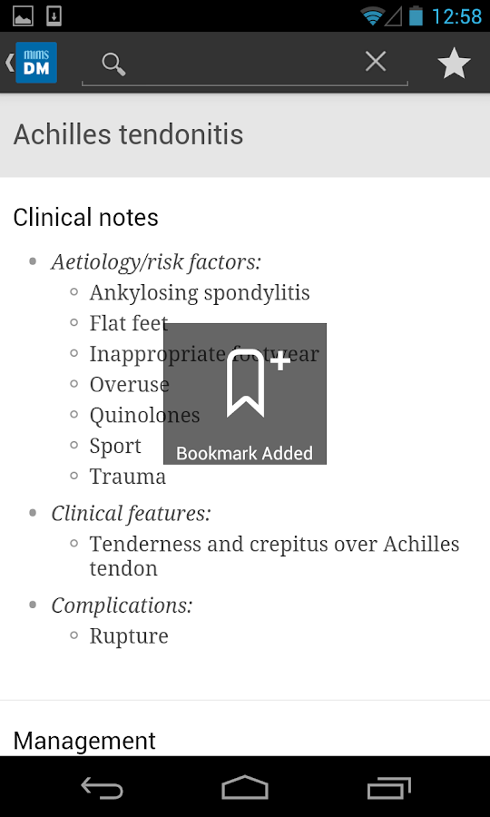 MIMS Diagnosis & Management Screenshot 1