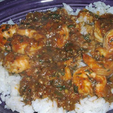 Spicy Salsa-Cilantro Shrimp