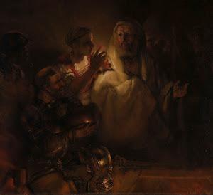 RIJKS: Rembrandt Harmensz. van Rijn: The Denial of St Peter 1660