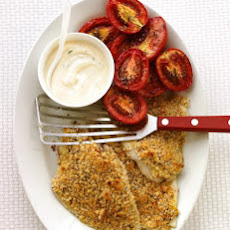 Baked Flounder with Roasted Tomatoes