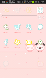 Free Pink Love go launcher theme APK for Windows 8