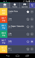 Screenshot of Radios de Costa Rica Radio CR