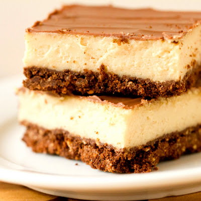 Chocolate & Peanut Butter Cheesecake Bars