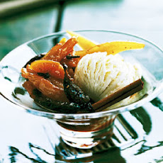 Buttermilk Ice Cream with Spiced Fruit Compote