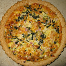 Chicken and Spinach Quiche