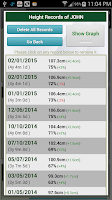 Screenshot of Growth Chart Trial