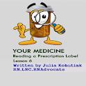 Reading a Prescription Label icon