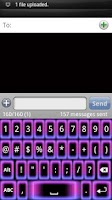 Screenshot of Girly Glow Keyboard Skin