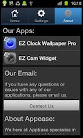 Screenshot of EZ Clock Wallpaper Lite