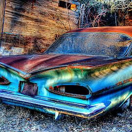 Remembering my grandpa's car~ by Karen McKenzie McAdoo - Transportation Automobiles