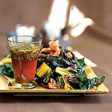 Braised Rainbow Chard with Warm Pancetta Vinaigrette