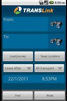 Screenshot of Translink QLD Planner (Old)