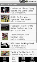 Screenshot of Dallas Cowboys News (NFL)