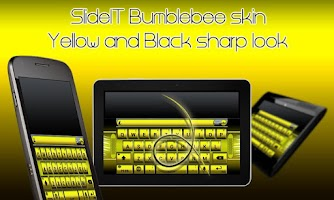 Screenshot of SlideIT Bumblebee Skin