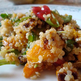 Quinoa With Arugula, Butternut Squash and Citrus Vinaigrette (Pareve, Passover)