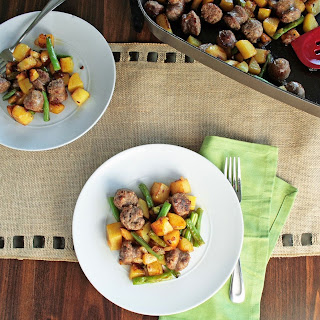 Easy Potato, Bean and Sausage Skillet