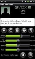 Screenshot of SVOX Dutch Lena Voice