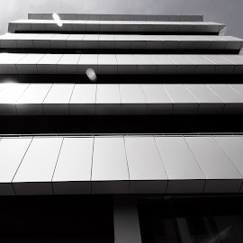 Horizontal Lines by Αντώνης Ανδρουλάκης - Buildings & Architecture Office Buildings & Hotels ( black and white, balconies, horizontal lines, vertical lines, pwc )