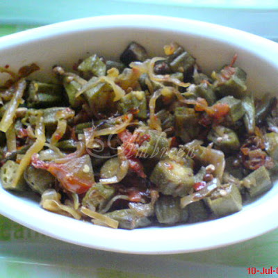 Fried Bhindi OR Okra with Onions and Tomatoes