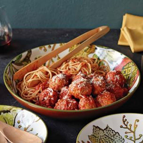 Braised Turkey Meatballs with Quick Tomato Sauce