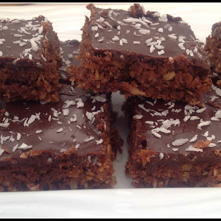 Chocolate Cornflake Coconut Slice