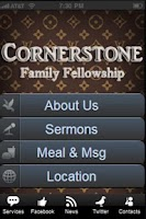 Screenshot of Cornerstone Mobile