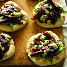 Mini Steak & Blue Cheese Pizzas