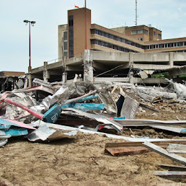 Tearing Down The Parking Garage 6 by Yvonne Collins - News & Events Business