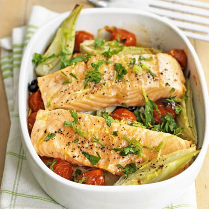 Salmon With Fennel Baked In Parchment Recipes — Dishmaps